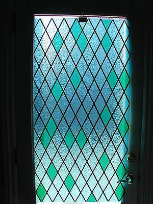 "5 Vintage Mid Century Plastic Decorator Panel 24"" x 48"" Blue/Green & Gold Retro"