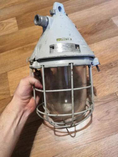 Fabriklampe Bunkerlampe Industrial Bunker Light Lampada GDR