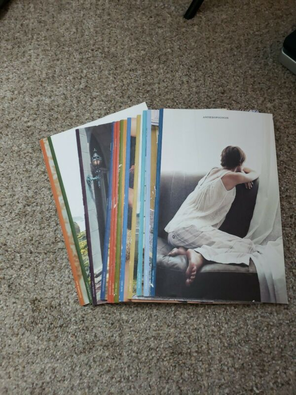 Rare Anthropologie Catalog Lot 12 Fashion Home Reference 2007 complete jan- dec