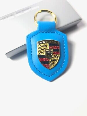 OEM GENUINE PORSCHE CREST NEW  w/box KeyFob Keyring Keychain Emblem GT3 Blue