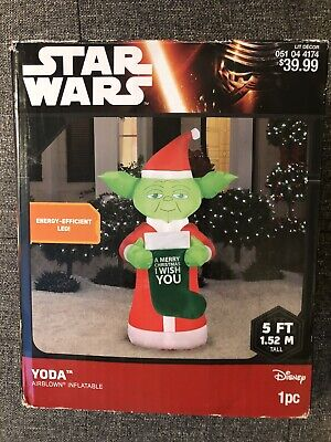 Star Wars Yoda Airblown Christmas Inflatable Holiday lawn decoration