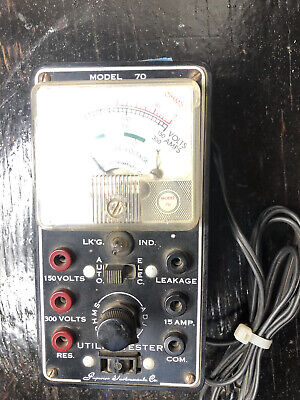 Vintage Sico Model 70 Vtvm Superior Instruments Utility Tester Auto Appliance