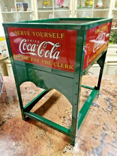 Vintage Coca Cola 1929 Glascock Mini Ice Chest Authorized Repro Cooler NEW COKE