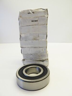 Lot Of 8 6308-2rs Two Side Rubber Seals Bearing 6308rs Ball Bearings New