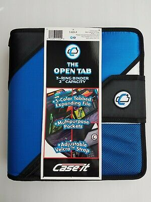 New Case-it The Open Tab 3-ring 2 Capacity Binder
