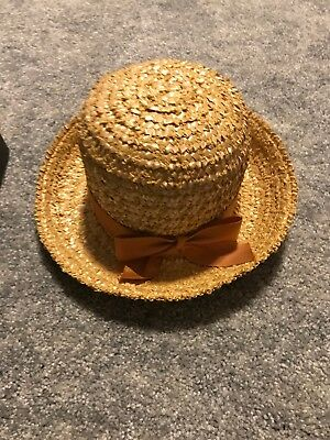 VINTAGE IMPERIAL TAN STRAW MATERIAL LADIES' HAT