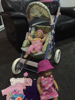 Dolls pram and dolls Little Mountain Caloundra Area Preview
