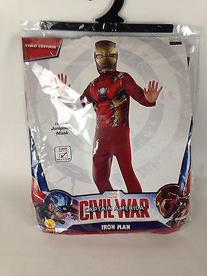 Marvel Iron Man Jumpsuit Mask Costume Purim Halloween Dress Up L 12 14 Rubies - Iron Man Dress Up Suit