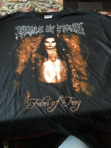 Cradle of Filth Thousand ** Felon of Troy Black Tee 2 Sided XL VTG RARE 2005