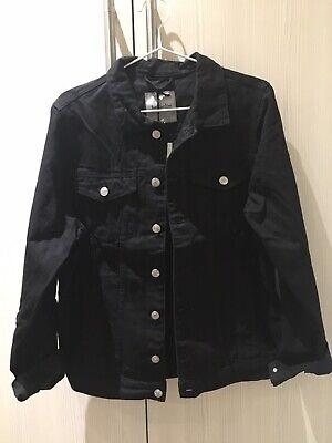 Just Junkies Denim Oversized Jacket Black M