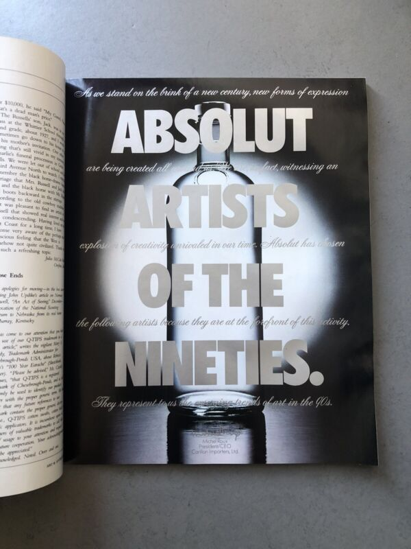 Absolut Artists Of The 90s - Series Of 36 Ads