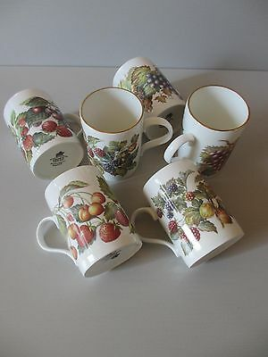6x Kaffeebecher fine bone china Porzellan OBST Crown Trent Staffordshire England Staffordshire Fine Bone China