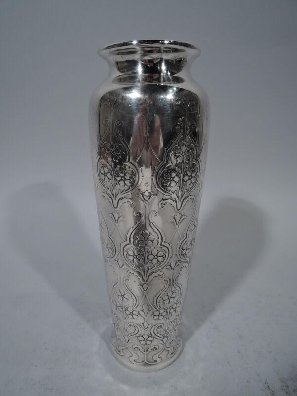 Tiffany Vase - 18097B - Antique Art Nouveau   American Sterling Silver