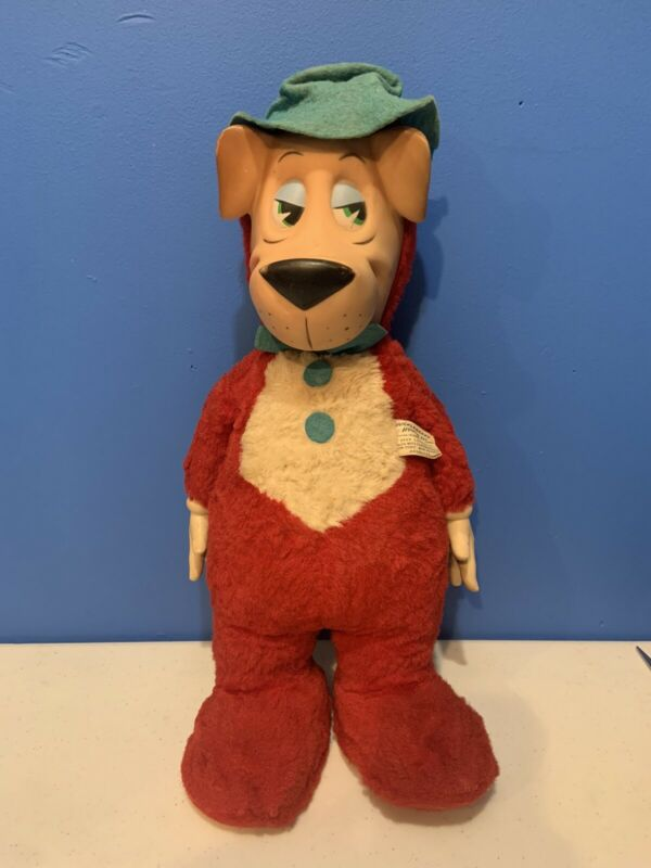 Vintage Knickerbocker 1959 Rubber Face & Hands Doll Huckleberry Hound Plush