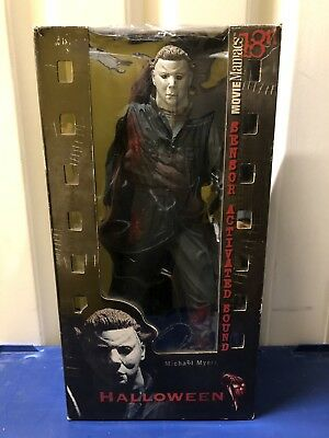 "McFarlane Movie Maniacs 18"" Motion Activated Figure Michael Myers Halloween MM91"