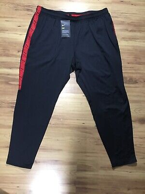 Nwt Men's Nike Dry Squad Soccer/Football Track Pants Black/Red Size 2XL
