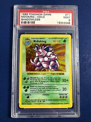 Pokemon Shadowless Nidoking PSA 9 Mint Holo Rare 11/102 Base Set card