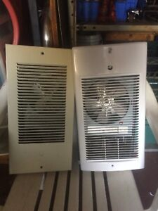 Force fan heater one new and one used