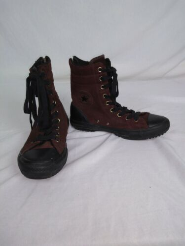 Womens Converse Chuck Taylor All Star Hi Rise Boots Brown 549594C size 8