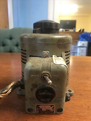 Powerstat 116 Variable Autotransformer 0-140 Vac Transformer For Parts Or Repair