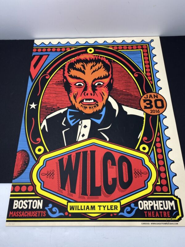 Wilco Limited Edition Numbered 36/165 Poster Orpheum Theatre Boston 1/30/2016