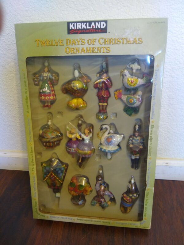 NIB Kirkland Signature Twelve DAYS OF CHRISTMAS Jim-Shore-Style Ornaments