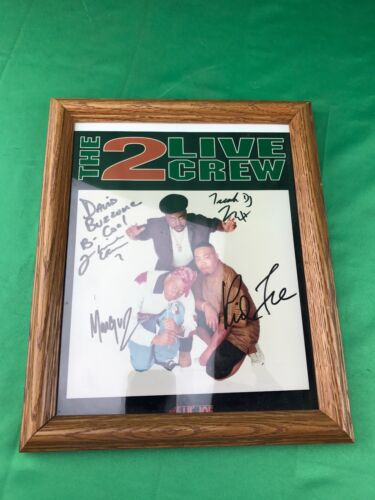 2 Live Crew Autographed Signed Picture