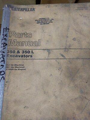 Caterpillar 350 And 350 L Excavator Parts Manual