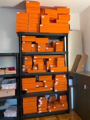 100% Authentic HERMES Gift Box Collection - DOZENS of empty orange boxes & more!
