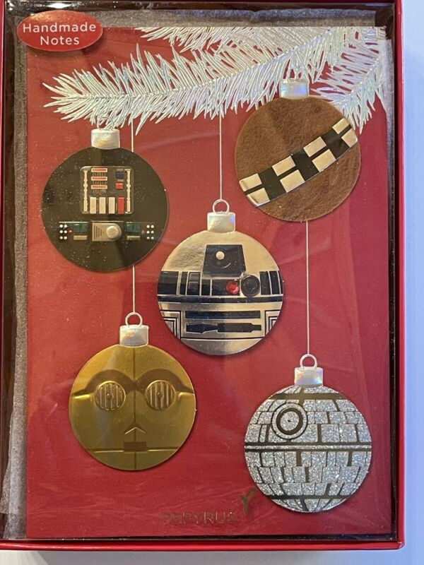 Papyrus Disney Christmas Cards Star Wars Boxed New (8 Count) Handmade