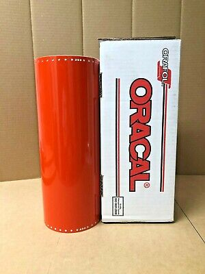 Oracal 651 1 Roll 15 X 50yd 150ft Orange Red 047 Gloss Sign Vinyl