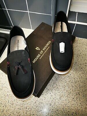 Topman House of Hounds Black New Tassle Loafers Size UK 10 Euro 44 RRP £59