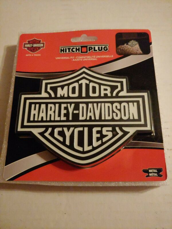 HARLEY DAVIDSON WHITE SHIELD HITCH COVER PLUG SOLID METAL TRUCK TRAILER NEW