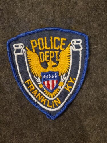 Vintage Franklin Police Patch - Cheesecloth Backing - KY