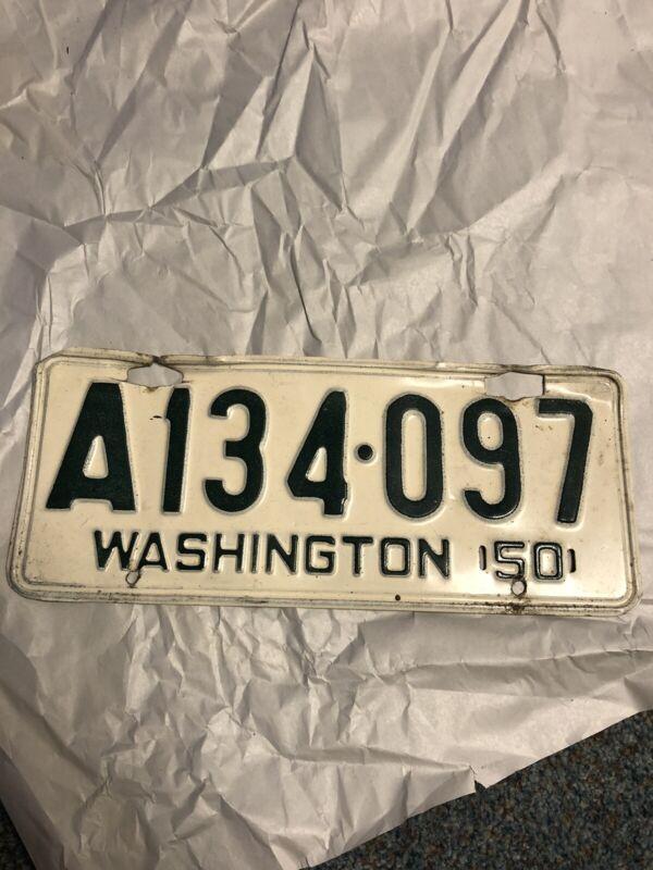 Washington State 1950 License Plate
