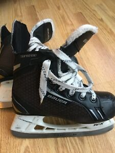 Bauer supreme skates - size youth 13