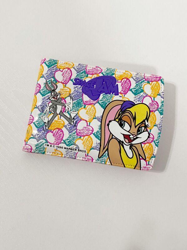 Vintage 1996 Space Jam Lola Bunny Bugs Bunny Wallet Pink Hearts