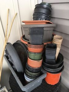 LOTS OF POTTING CONTAINERS