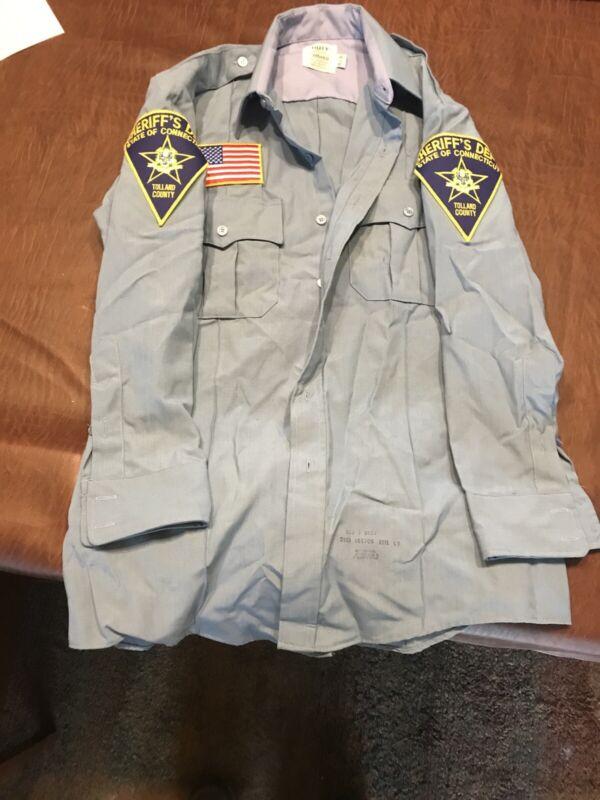 Halloween Sheriffs Uniform Connecticut Uniform Costume Long Sleeve Shirt Only