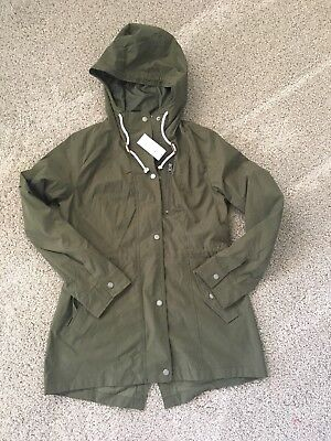 Abercrombie & Fitch Women's Nylon Parka Olive Green Size Medium •NEW• AUTHENTIC• for sale  Fontana