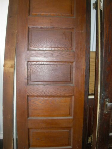 11 available Antique Vintage SOLID Wood Interior Doors 5 Panels, different sizes