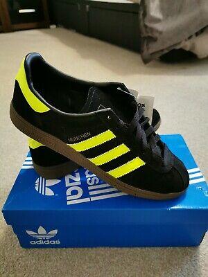 BNIB Adidas Munchen Black Yellow OSLO CW, Size 9, Spzl, Rare deadstock, Vintage