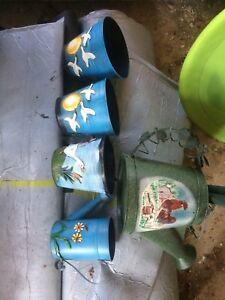 Decor pots and watering can