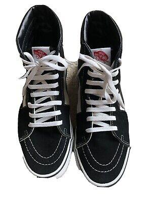 Vans Authentic Old Skool Hi Top Skateboard Shoe Black/White Size 9.5