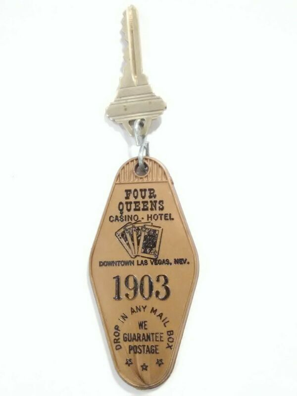 FOUR QUEENS CASINO LAS VEGAS, NV. VINTAGE VAULT ROOM KEY PERFECT FOR COLLECTION!