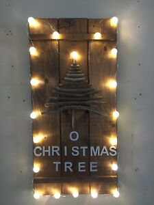 Rustic driftwood tree with lights $25.00