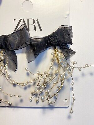 New ZARA PEARL BEAD AND BOW EARRINGS FASHION STATEMENT F20 RE:1856 302 800