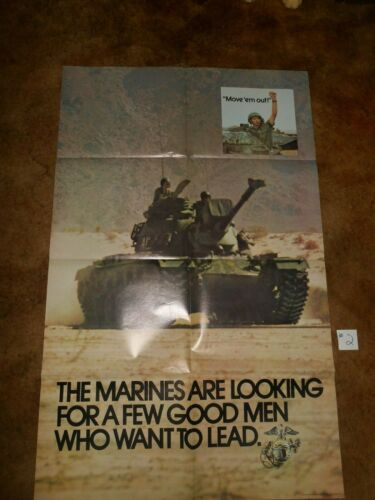 #2 ORIGINAL MARINE RECRUITING POSTER 1973 BY GOV. PRINTING OFFICE