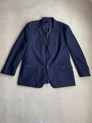 Brooks Brothers 46 R Mens Blazer Suit Jacket 346 Navy Blue Wool