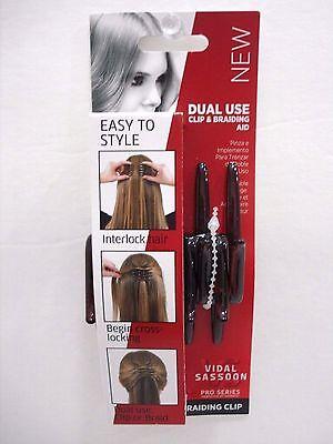 - Vidal Sassoon Pro Series Clip & Braiding Aid Dual Use Brown
